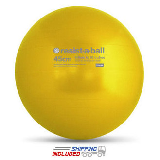 Yellow 45cm Resist-A-Ball Stability Ball