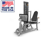 American Built AB-6003 Selectorized Seated Leg Press / Calf Extension by Matrix
