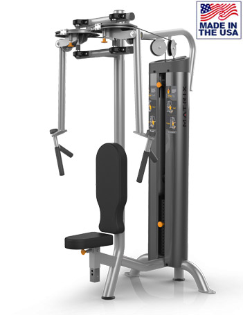American Built AB-6036 Selectorized Pec Trainer / Rear Delt Machine by Matrix