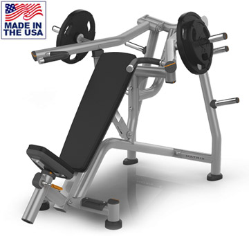 American Built AB-A417 Plate Loaded Incline Chest Press Machine by Matrix
