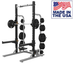American Built AB-A690 Pro Half Rack with Weight Storage