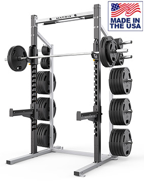 American Built AB-D690 Varsity Weightlifting Half Rack for Olympic Weightlifting by Matrix