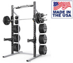 American Built AB-D690-7 Varsity Half Rack for School Weight Rooms & Clubs