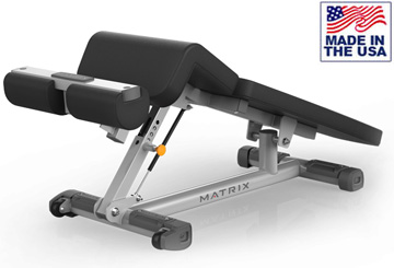 American Built AB-A61 Adjustable Decline and Sit-Up Bench with Wheels by Matrix