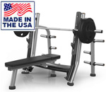 American Built AB-A678 Breaker Bench Press with Olympic Plate Storage