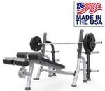 American Built AB-A80 Decline Olympic Weight Lifting Bench with Plate Storage