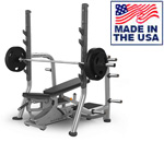 American Built AB-C895 3-Way Adjustable Olympic Bench with Take Off Bars by Matrix