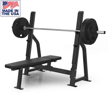 American Built AB-D78 Wide Olympic Bench Press for Commercial Gyms by Matrix
