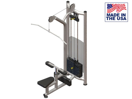 American Built AB-FS921 Selectorized Free Standing Lat Pulldown by Matrix