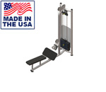 American Built AB-FS926 Selectorized Free Standing Low Lat Row Machine by Matrix