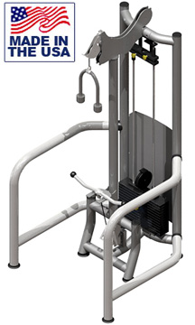 American Built AB-FS947 Selectorized Free Standing Bicep Curl / Tricep Pushdown by Matrix