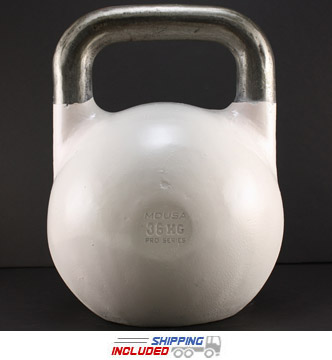 36 KG (White) V2 Pro Series Competition Painted Kettlebell
