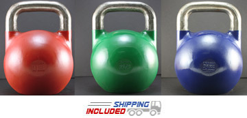 8-36 KG SET V2 Pro Series Competition Painted Kettlebell