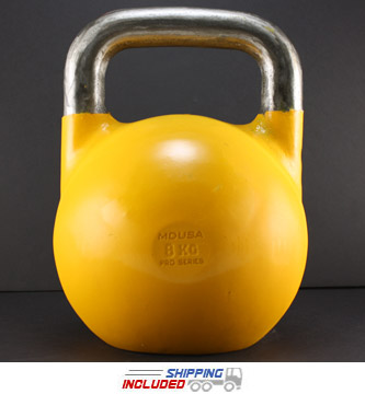 V2 Pro Series Competition Painted Kettlebell - 8 KG (Yellow)