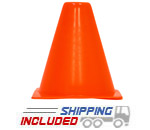 "6"" Orange Agility Cones for Sports Performance Agility Training"