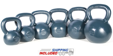 8-32 KG Blue Series Gravity Casted Kettlebell Set