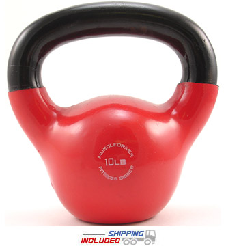 10 lb. Fitness Series Vinyl Coated Kettlebell