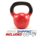 15 lb. Fitness Series Vinyl Coated Kettlebell