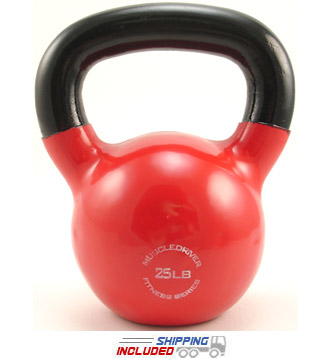 25 lb. Fitness Series Vinyl Coated Kettlebell