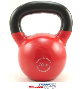 30 lb. Fitness Series Vinyl Coated Kettlebell