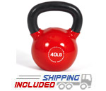40 lb. Fitness Series Vinyl Coated Kettlebell