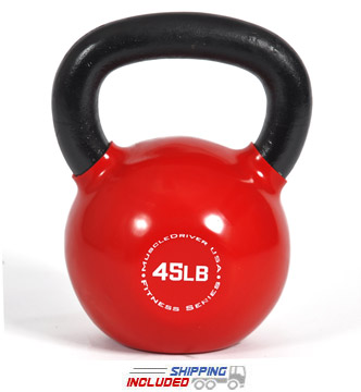 45 lb. Fitness Series Vinyl Coated Kettlebell