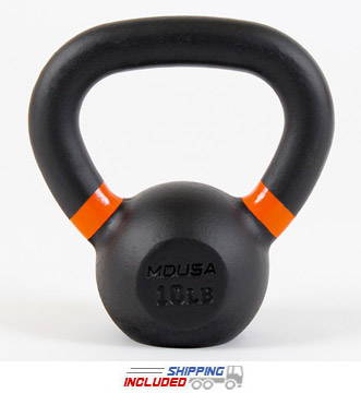 10 LB V4 Pound Series Kettlebells w/ Orange Marking