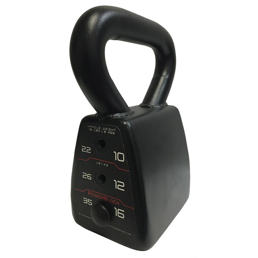 Kettlebell Courses Home: PowerBlock Adjustable Kettlebell From 18 To 35 Lbs. (540