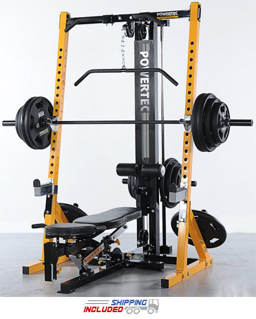 Powertec WB-HR16 Half Rack Home Gym for Strength Training