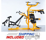 Powertec WB-MS14 Plate Loaded Workbench Multi-Gym System