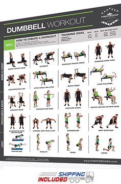 FightThrough Fitness Workout Chart for Dumbbell Full Body Workout