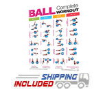FightThrough Fitness Laminated Poster for Complete Fitness Ball Workout