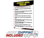 Productive Fitness Laminated Gym Poster for Fitness Area Rules and Conduct