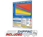 Productive Fitness Laminated Exercise Chart for Fitness Heart Rate Zones