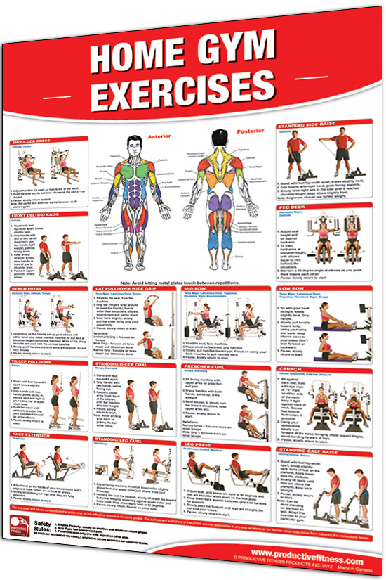 Productive fitness laminated poster