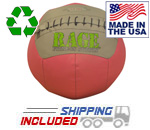 "14 lb. RAGE 14"" USA-Made Medicine Ball Pink Ribbon Edition"