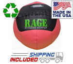"20 lb. RAGE 14"" USA-Made Medicine Ball Pink Ribbon Edition"