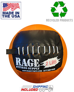 "2 lb. RAGE 10"" USA-Made junior Medicine Ball"