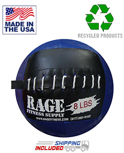 "8 lb. RAGE 10"" USA-Made junior Medicine Ball"
