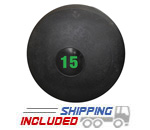 15 lb. Black RAGE Heavy Duty Slam Ball