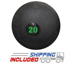 20 lb. Black RAGE Heavy Duty Slam Ball