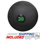 30 lb. Black RAGE Heavy Duty Slam Ball