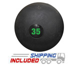 35 lb. Black RAGE Heavy Duty Slam Ball
