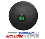 40 lb. Black RAGE Heavy Duty Slam Ball