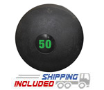 50 lb. Black RAGE Heavy Duty Slam Ball
