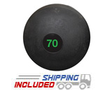 70 lb. Black RAGE Heavy Duty Slam Ball