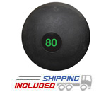 80 lb. Black RAGE Heavy Duty Slam Ball