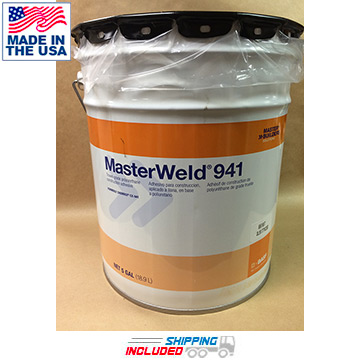 MasterWeld-941 Polyurethane Adhesive for Rubber Flooring Installations