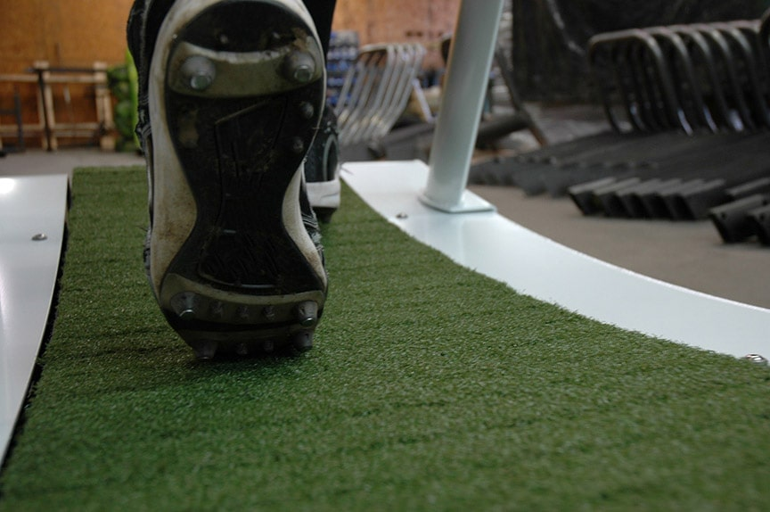 TrueForm Runner Treadmill with Artificial Grass Track for Running with Cleats