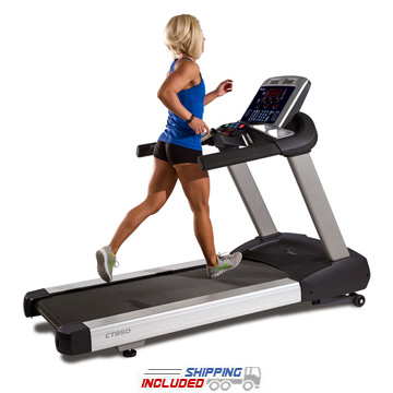 Commercial fitness treadmill
